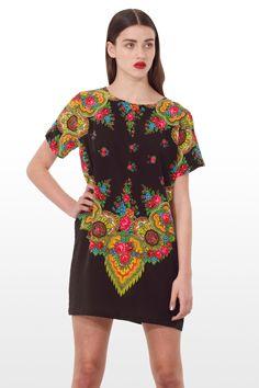 GYPSY TEE SHIFT DRESS MULTI