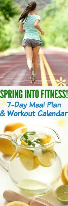 The warmer weather is coming, so it's time to Spring Into Fitness! This Clean Eating Meal Plan and Workout Calendar is the jump-start that you need to get back into the exercise and healthy living routine! Clean Eating Meal Plan, Healthy Eating Tips, Get Healthy, Healthy Recipes, Health Eating, Healthy Meals, Healthy Habits, Health And Wellness, Health Tips