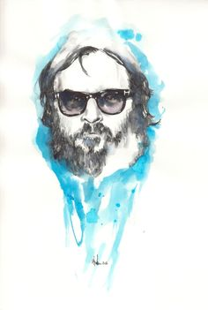 Joaquin Phoenix  Blue ink and Parker Pen
