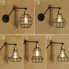 49.99$  Buy now - http://ali4o0.worldwells.pw/go.php?t=32696257084 - American country style retro industry a long-arm formwork exclusive creative bar decorated wall lamp wrought iron frame sconce