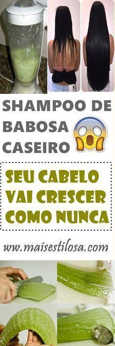 COMO FAZER SHAMPOO DE BABOSA CASEIRO PARA O CABELO CRESCER SUPER RÁPIDO E ACABAR COM A QUEDA