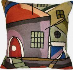 Artist Wool Pillows – On The Town Pillow II