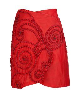 Atelier Versace Vintage Red Skirt by VintageStoreNet on Etsy, €1900.00