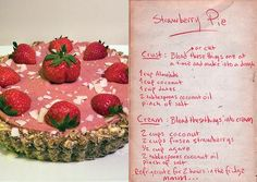 Receita de torta crua de morango de Jonsi e Alex http://jonsiandalex.com/recipes