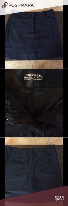 Golf/tennis skirt-Nike brand Nike fit dry black golf skirt, barely worn size 6 P Nike Skirts