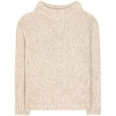 Tom Ford Mohair and Wool-Blend Sweater ($1,575) ❤ liked on Polyvore featuring tops, sweaters, beige, pink sweater, mohair jumper, pink mohair sweater, wool-blend sweater and tom ford