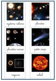 Montessori Anonymes: le systeme solaire nomenclature