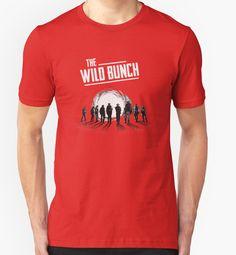 The Wild Bunch - sam peckinpah, western, movie, classic, film, cinema, 1969, william holden, ernest borgnine, warren oates, robert ryan, edmond o brien, ben johnson, bo hopkins, mexican revolution, outlaws, gunman, shootout, pat garrett billy the kid, getaway, convoy, steiner, sacramento, gang, posse, showdown, T-Shirt Design von adriangemmel
