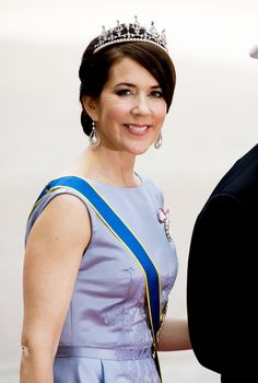 Crown Princess Mary with her the tiara she wore at her own wedding in 2004.