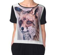 'Realistischer Fuchs ' T-Shirt von Wolfteamshop Hoodies, Design, Stuff To Buy, Shirts, Shopping, Unique, Woman, Sweatshirts, Hoodie