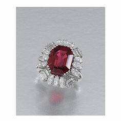 SPINEL AND DIAMOND RING, 1960s | Lot | Sotheby's