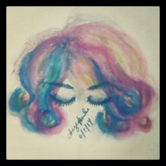 (....) Mimi? :3 #Art? #MyArtwork #watercolor #hair #woman (june 5, 2014) Watercolor Tattoo, Artworks, June, Sketches, Woman, Tattoos, Drawings, Hair, Painting