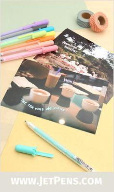 Sakura Souffle Gel Pens contain opaque ink that dries with a matte, raised finish. They are excellent for writing on photo paper!