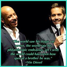 <3 Vin Diesel <3 Paul Walker <3