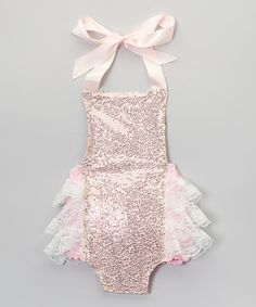 Love this Pink Glitter Bubble Romper - Infant on #zulily! #zulilyfinds