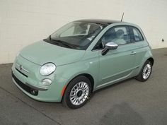 Light green Fiat 500. Maybe some day.
