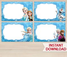 Frozen Favor Tag or Label  Printable Bag by funnypartyinvitation, $2.99