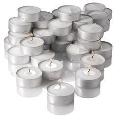 Richland Unscented Tealight Candles, White, Set of 125 >>> Awesome deals : Home Decor Accessories