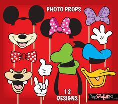 MICKEY MOUSE Photo Booth Props Mickey Mouse by PixelPerfect10