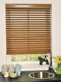 Yew Wooden Blind - 50mm Slat from Blinds 2go