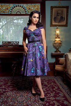 Pinup Couture Heidi Dress in Fortune Teller Print | Pinup Girl Clothing