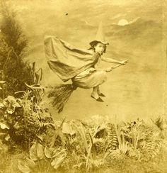 Fabulous Vintage photo - Little Witch, 1890s