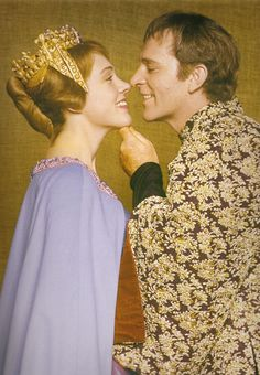 Julie Andrews and Richard Burton in Camelot (1960).