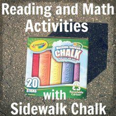 So many sidewalk chalk activities for Summer!