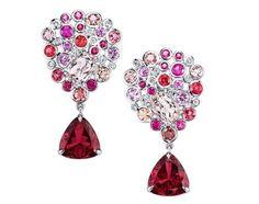Ian Saude for Kaiser Gems Bouquet earrings