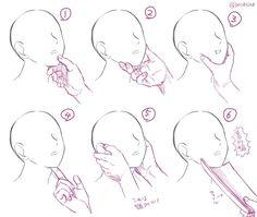 """日夏ダイスコさんのツイート: """"顎クイの種類?を描きだしてみたんだが… https://t.co/IJFMz9Zjbg"""""""