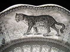 Canadian Historical Staffordshire ARCTIC SCENERY Platter 1835 from aesthetictransferware on Ruby Lane