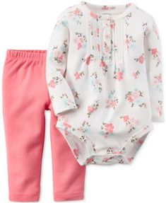Carter\'s Baby Girls\' 2-Piece Bodysuit & Pants Set