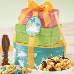 Easter Tower of Treats® Gift - We're big fans of the Easter Bunny here at Harry & David. He's all about yummy treats and so are we.