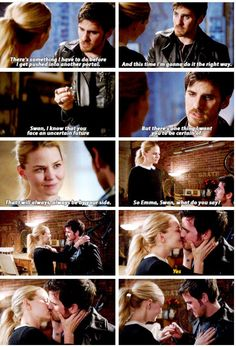 """This time I'm gonna do it the right way. There's one thing I want you to be certain of. That I will always, always be by your side. So, Emma Swan, what do you say?"" - Killian, proposing to Emma for the second time #OnceUponATime"