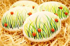 Hand decorated, handmade LADYBIRD, Spring, Easter cookies on Etsy, $29.00