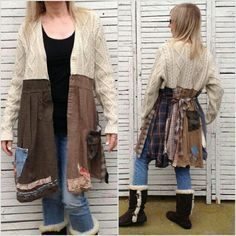Sweater Refashion, Upcycle, Kimono Top, Sewing, Pretty, Clothing, Sweaters, Ideas, Tops