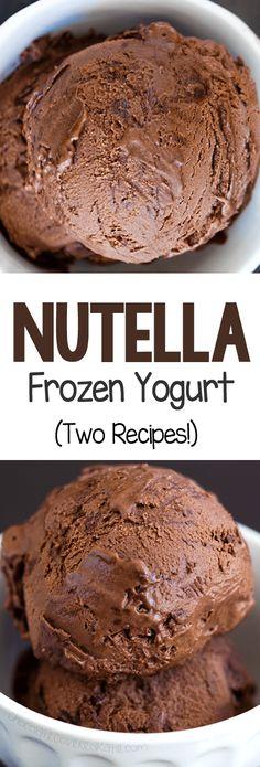 Homemade Frozen Yogurt, Frozen Yogurt Recipes, Homemade Ice Cream, Frozen Desserts, Vegan Desserts, Easy Desserts, Delicious Desserts, Dessert Recipes, Yummy Food