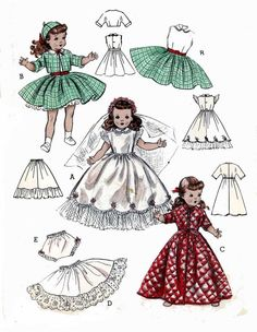 ORIGINAL Butterick 6759 Doll Clothes PATTERN for 21 inch Toni Sweet Sue Revlon #Butterick6759