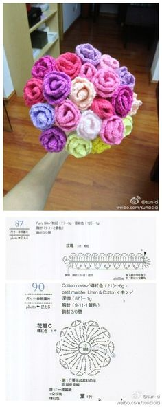 Flower bouquet with diagram, what you see here is what you get.