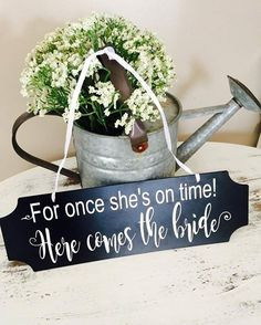 Can you relate? We made this custom ring bearer sign for a bride who thinks her groom will get a kick out of it. Love when personality shines thru in ceremonies. www.centsibleevents.com Find us on Facebook too! #centsibleevents #easttennesseebride #wedding