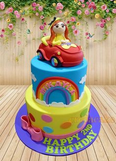 Wiggles Birthday Cake Wiggles Birthday, Wiggles Party, Twin Birthday, Birthday Cake Girls, 4th Birthday Parties, 1st Birthdays, Birthday Cakes, Birthday Ideas, Wiggles Cake