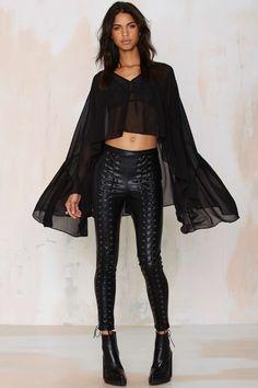 Nasty Gal Dark Sparks Sheer Top   Shop Clothes at Nasty Gal!