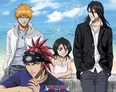Poster Bleach Groupe Ichigo plage
