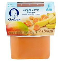 Gerber 2nd Foods Banana Carrot Mango Sitter 2 x 4oz (8oz)