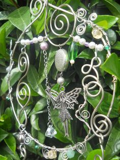 FAIRY ORNAMENT  Wind chime  Mobile by Syama on Etsy, $30.00