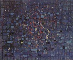 Composição 1956   Antonio Bandeira óleo sobre tela, c.i.d. 55.00 x 46.00 cm