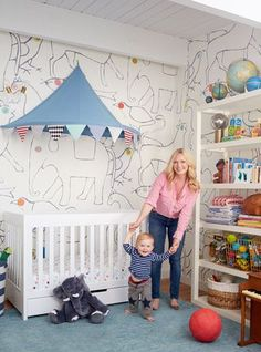 Charlie's Animal and Circus Themed Nursery | Emily Henderson | Bloglovin