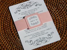 Pink and White Vintage Design Wedding by InvitationsbyJill on Etsy, $4.25