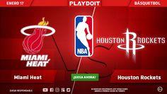 ¡Miami Heat vs Houston Rockets! 🏀 Porque la NBA se disfruta más en Playdoit, regístrate ya y descubre todo nuestro contenido 😎👍 > http://www.playdoit.com