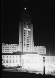 """Christmas festival, Los Angeles City Hall steps, Los Angeles, CA, 1930 [image 1] :: Christmas festival, Los Angeles City Hall steps, Los Angeles, CA, 1930 :: """"Dick"""" Whittington Photography Collection, 1924-1987. http://digitallibrary.usc.edu/cdm/ref/collection/p15799coll170/id/24019"""